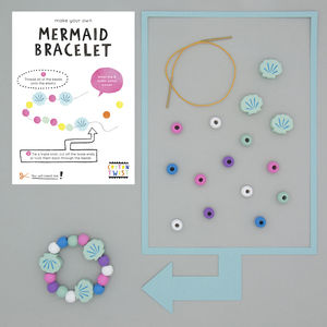 Make Your Own Mermaid Bracelet Kit - wedding day activities