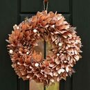 Spiced Copper Deluxe Autumn Door Wreath