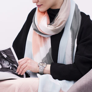 Personalised Summer Colourblock Scarf - gifts for her