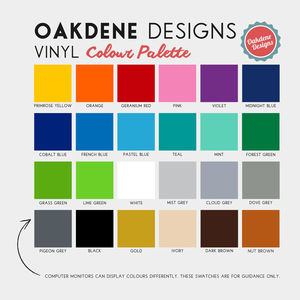 Oakdene Designs Vinyl Samples