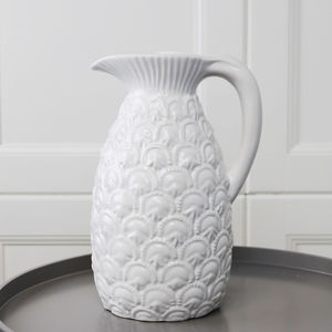 White Pineapple Jug - living room