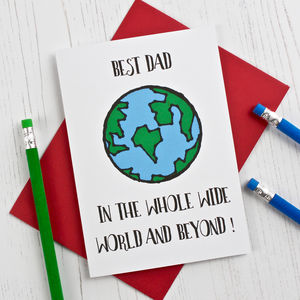 Best Dad In The World Card - birthday cards