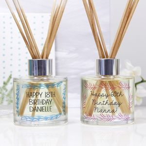 Personalised Birthday Reed Diffuser Gift Set - candles & home fragrance