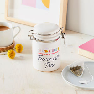 Personalised Favourite Tea/Coffee Ceramic Storage Jar