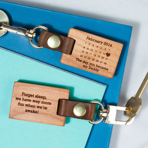 Personalised 'The Day You Became My…' Key Ring - father's day gifts
