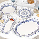 Marine Blue Poisson Summer Serveware