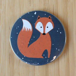Fox Large Pocket Mirror - compact mirrors