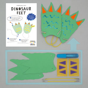 Make Your Own Dinosaur Feet Kit - party bags and ideas