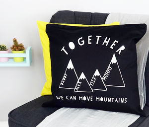 Personalised Mountain Cushion - children's room