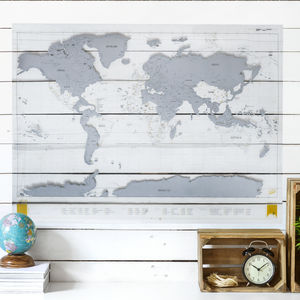 Clear Scratch Map® Pin Board - posters & prints