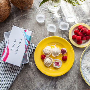 Raspberry And Coconut White Chocolate Truffles - chocolates & confectionery