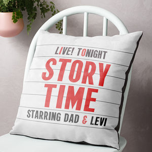 Personalised Child's Story Time Cinema Marquee Cushion - personalised cushions