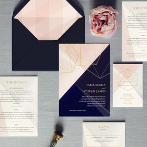 Prism Geometric Wedding Invitation - invitations