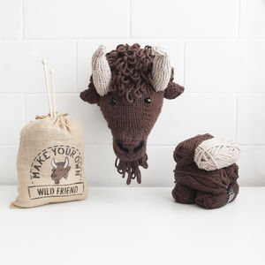 Make Your Own Faux Bison Knitting Kit - whatsnew