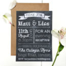 Chalkboard Evening Wedding Reception Invitation