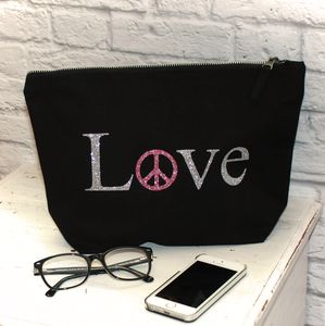 Love And Peace Large Clutch Pouch - bags & purses