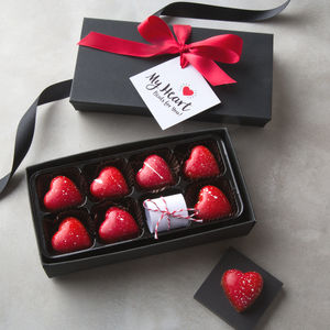 Secret Message Valentine Salted Caramel Chocolates - food gifts
