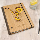 Personalised Wooden Cocktail Notebook