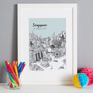 Personalised Singapore Print - maps & locations