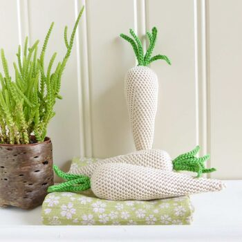 Crochet Parsnip Play Food