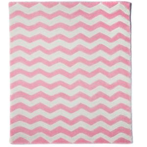Pink Chevron Rug - furnishings & fittings