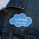 Be Kind Iron On Embroidered Patch