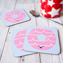 Happy Party Ring Biscuit Single Coaster