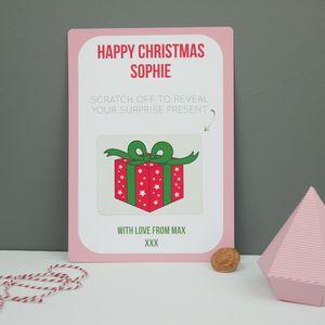 Christmas Surprise Reveal Scratchcard - christmas cards