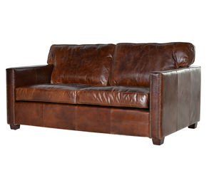 Vintage Leather Manhattan Two Seater Sofa