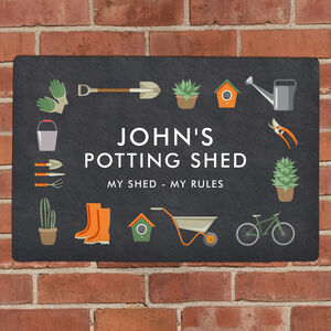 Personalised Shed Wall Sign
