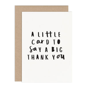 Little Card Big Thank You Card Pack - thank you cards