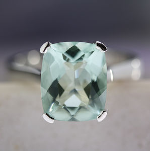 Apollo Handmade Mint Beryl Ring - engagement rings