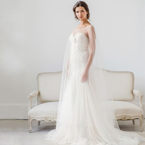 Tulle Bridal Cape Wedding Veil - dresses
