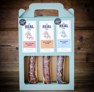 Trio Of Wild Venison Salami Gift Set - gifts for fathers