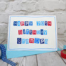 Large A5 mens 70th Birthday card, personalised for a special dad, grandad, pops etc