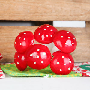 Christmas Toadstool Tree Or Parcel Decoration - cards & wrap