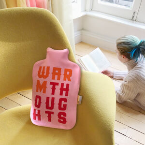 Cool Personalised Typographic Hot Water Bottle