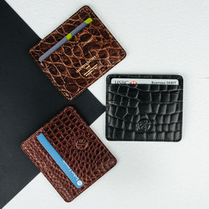 Personalised Leather Card Holder.'The Marco Croco' - wallets