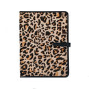 Leopard Print Pony Hair Leather A4 Document Holder