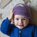 Rainbow Beanie Soft Purple