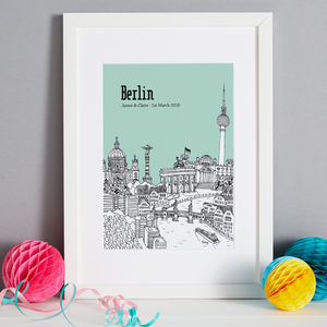 Personalised Berlin Print - drawings & illustrations