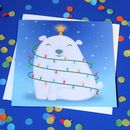 Cute Polar Bear Christmas Card Cute Greeting Card