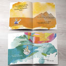 personalised kids book with lots of places from around the world