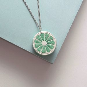 Lime Citrus Slice Necklace - necklaces & pendants