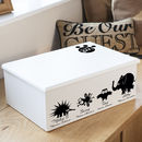 Keepsake Box Or Memory Box Zoo Design