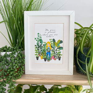 Grass Is Greener Illustrated Print