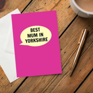 'Best Mum In Yorkshire' Card
