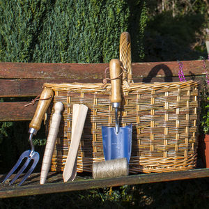 Willow Garden Trug And Tool Set