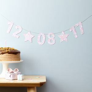 Date Garland Liberty Fabric And Card - home accessories