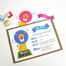 Personalised Circus Lion Party Invitation